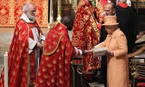 Prélats anglicans reçus par la reine d'Angleterre